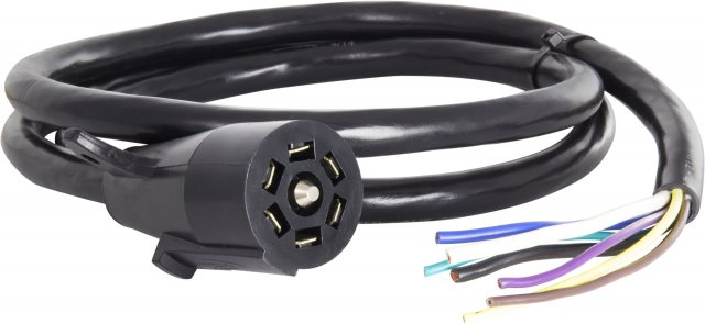 7 Blade Molded Connector w/ Cable, SAE Wiring, 6