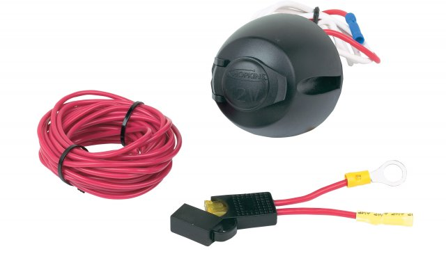 12V Power Socket w/ 17 ft. power wire & fuse assembly